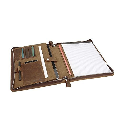 iCarryAlls Leather Padfolio Organizer Notepad