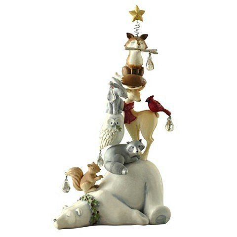 Stacked Animal Christmas Figurine - 11 Inches