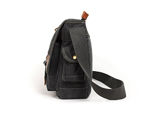 E-Bestar - Bolso al hombro para hombre Varios colores negro negro