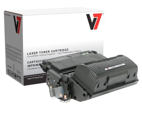 V7 THK25942UX Remanufactured Universal Extended Yield Toner Cartridge for HP Q1338A/Q1339A/Q5945A/Q5942X (HP 38A/39A/45A/42X) - 25000 Page Yield