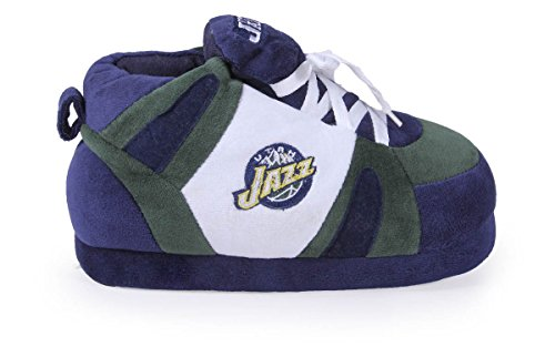 LICENSED NBA Feet and Womens Slippers and OFFICIALLY Comfy Sneaker Feet Mens Jazz Utah Happy 8zZHBqx6