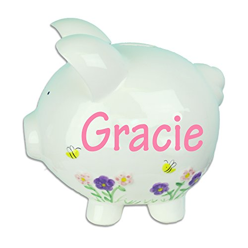 Personalized Bees Blooms Piggy Girls product image