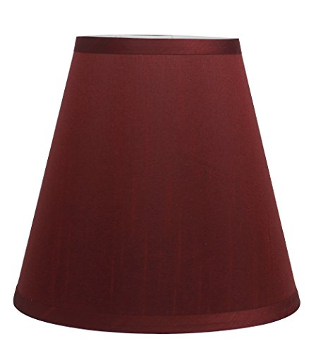 Urbanest Mushroom Unleated Hardback Lamp Shade 5x9x8.5 Inch (Spider) (Burgundy, Set of 1)