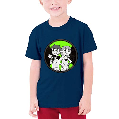 Custom Girls Boys Casual Ben-10-Logo 100% Organic Cotton T-Shirt Adolescent Youth Tees Tops Navy (Ben 10 Omniverse Shirts)