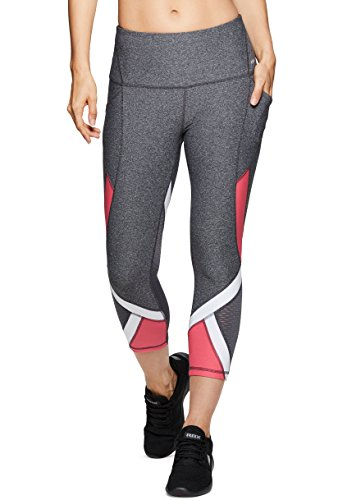 - RBX Active Women's Workout Gym Mesh Yoga Mesh Yoga Leggings Colorblock Charcoal S