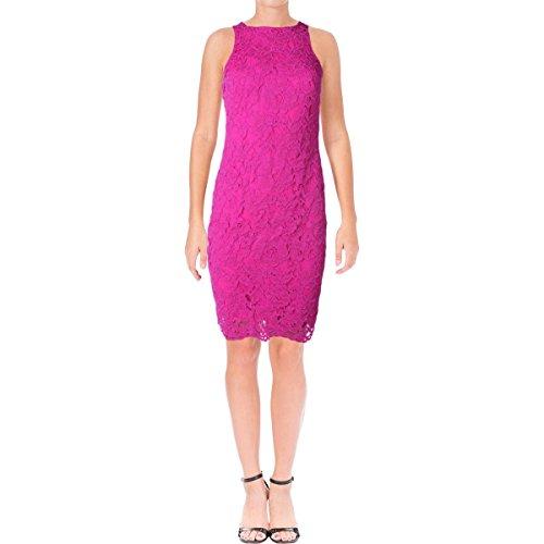Lauren Ralph Lauren Womens Lace Sheath Casual Dress Pink (Ralph Lauren Pink Dress)