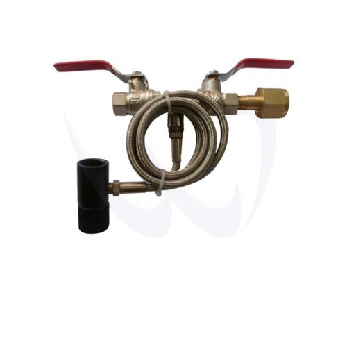 New Paintball CO2 Fill Station Tank Bottle Refill Dual Valve 40'' Hose by WaveToGo