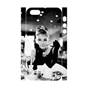 Iphone 5,5S 3D Custom Phone Back Case with Audrey Hepburn Image