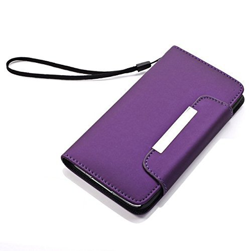 Samsung Galaxy S5 Cover - Protective Leather Case Cover for Samsung Galaxy S5 - Purple