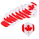 Dovewill 20 Pieces Durable Extra Strong Standard Dart Flights Darts Accessory - 4 Kinds Available - Flag Design