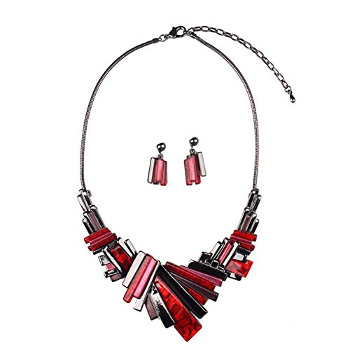 [Hamer Charm Painting Choker Statement Necklace and Earrings Sets Pendant costume Jewelry Women] (Costumes Jewelry Prices)