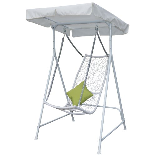 Outsunny Outdoor Canopy Hammock Lounge Seat Swing, 65-Inch