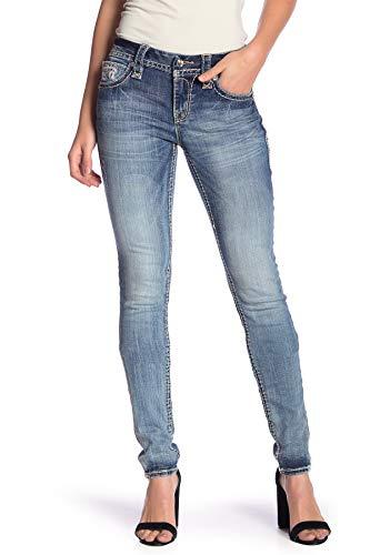 (Rock Revival - Womens Stacia Embellished Pocket Skinny Jeans-27)
