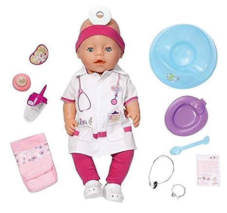 Amazon.es: Zapf BABY born Interactive Doctor muñeca ...