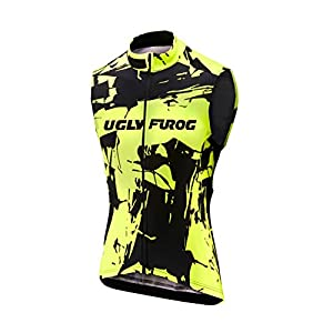41zE13kDM%2BL. SS300 Uglyfrog Termico Gilet Ciclismo Inverno Sport all'Aria Aperta Usura Senza Maniche Maglia Ciclismo Vello Bicicletta…
