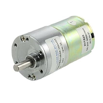 DealMux DC 24V 0.33A 30rpm 6 milímetros diâmetro do eixo velocidade Reduzir Gearbox Motor