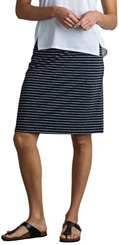 Shorts Hiking Officio Ex (ExOfficio Women's Wanderlux Stripe Short Skirt, Black, X-Large)