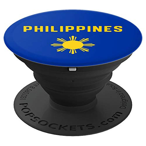 I Love The Philippines Minimalist Filipino Flag - PopSockets Grip and Stand for Phones and Tablets