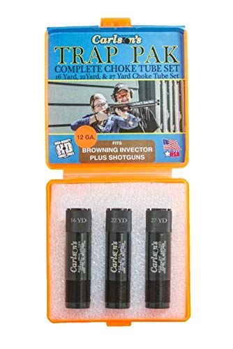 Carlson's Choke Tubes Trap Pack Choke Tube Set, Browning Invector Plus, 12 Gauge, Black, 17200 (Best Choke For Trap)