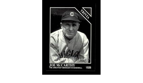 Managers Yankees NM//MT 1993 Conlon #823 Joe McCarthy