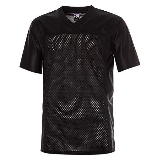 MOLPE Plain Football Jersey (Black, L)