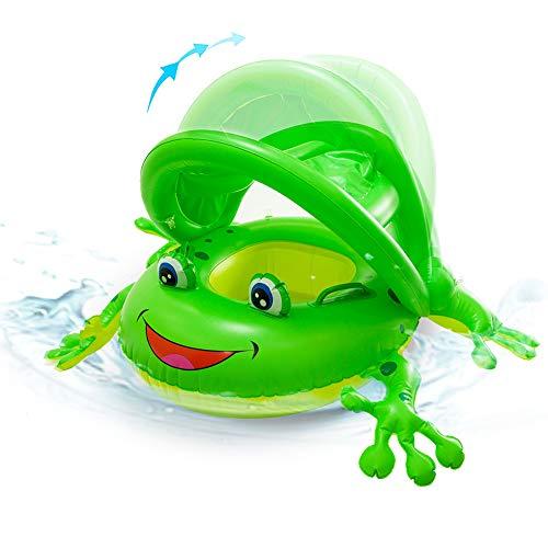 Comprar Flotador para bebé Rana con Asiento, Sombrilla para Niños 1-3 años (Verde) - Tienda Online flotadores piscina - Envíos Baratos o Gratis