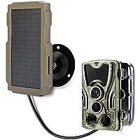 SuntekCam Panel solar de repuesto para cámara de caza con cable de carga USB, protección contra caídas, 9 V, 2400 mAh…