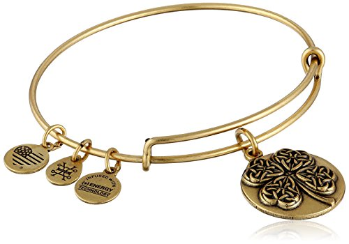 4 Leaf Clover Bracelet (Alex and Ani Four Leaf Clover III Expandable Rafaelian Gold Bangle Bracelet)