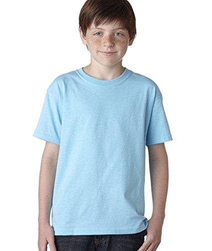 Gildan boys Heavy Cotton T-Shirt(G500B)-SKY-XL