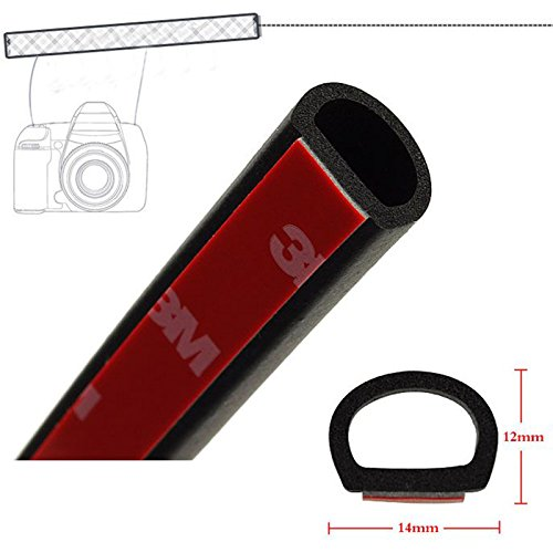 BinaryABC D Type Car Door Edge Trim Seal Strip Interior /& Exterior PVC Rubber Door 4m x 12mm x 14mm