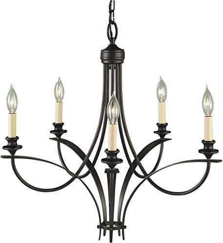 Boulevard Collection 1 Light - Feiss F1888/5ORB Boulevard Candle Chandelier Lighting, Bronze, 5-Light (26