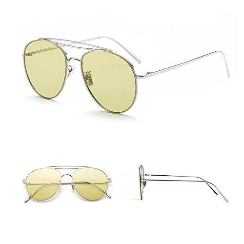 Espejo TESITE De Polarizadas UV Transparentes Femeninas 100 De Yellow Anti Gafas ConduccióN Sol Gafas n0r15nTx