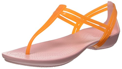 Crocs Donna Isabella T-strap Arancio Attivo / Petalo Rosa