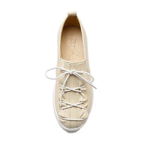Chiusa Nero di Maiale VogueZone009 Ballet Tacco Pelle Donna Flats Punta Basso Tirare twqfPwp