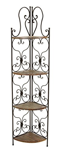 Review Deco 79 69873 Metal Wood Corner Rack, 18 by 66-Inch By Deco 79 by Deco 79