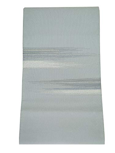予備申し立てられたメルボルン誂え流れ 未使用品 川島織物 謹製 つづれ 八寸名古屋帯 ブルーグレー