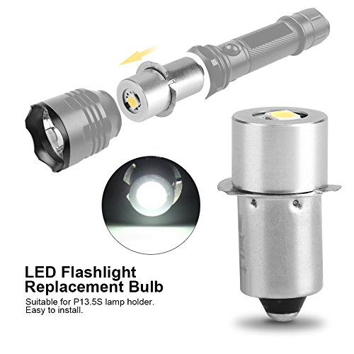 Amazon.com : Fdit (Pack of 2) P13.5S 1W LED Flashlight Replacement Bulb Torch Lamp Emergency Work Light(6V) : Garden & Outdoor