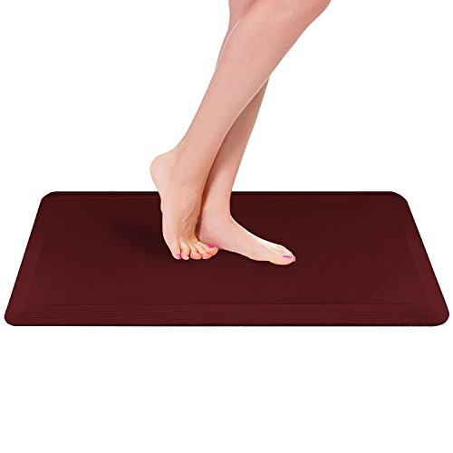 Royal Anti-Fatigue Comfort Mat - 20 in x 39 in x 3/4 in - Ergonomic Multi Surface, Non-Slip - Waterproof All-Purpose Luxurious Comfort - For Kitchen, Bathroom or Workstations - Burgundy by Royal
