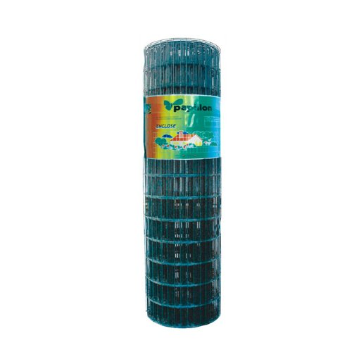 PAPILLON Rete zincata elettrosaldata con rivestimento in PVC 1,8 x 25 m