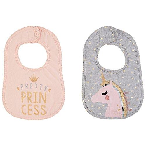 Dream in Glitter Collection Princess Unicorn Bibs- Set of 2