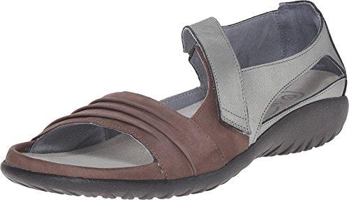 (NAOT Footwear Women's Papaki Sandal Shiitake Nubuck/Sterling Lthr 9 M US)