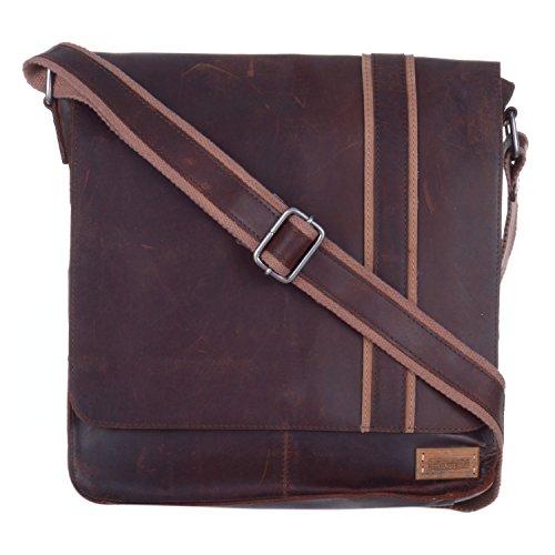 Le Craf Leather Brown Messenger Bag