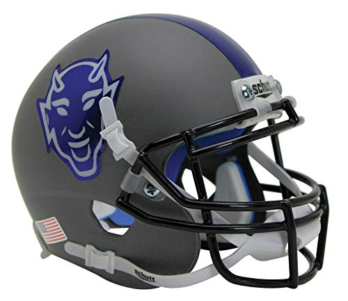 Schutt NCAA Duke Blue Devils Mini Authentic XP Football Helmet, Gray Alt. 6, Mini