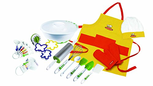 Real Kitchen Tools and Cookbook for Kids - Curious Chef 27-Piece Foundation Set