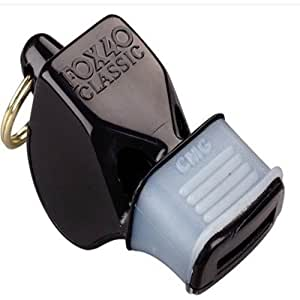 Fox 40 Mini CMG Pealess Whistle (Official, Black)