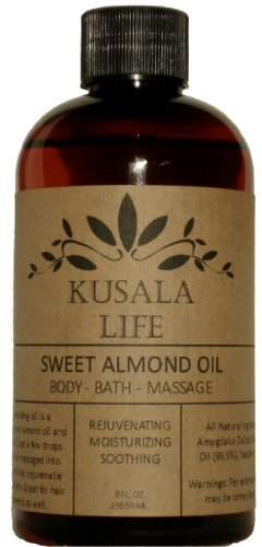 Sweet Almond Oil – Great Moisturizing Benefits for your Face, Skin, Hair and Nails – Wonderful Massage Oil – Perfect for a Relaxing Bath – An All Natural Baby Oil – Absorbs Quickly – No Oily Residue – Supplied by a Family Farm in California – 100% Satisfaction Guaranteed, Health Care Stuffs