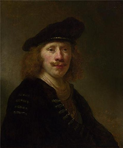 High Quality Polyster Canvas ,the Reproductions Art Decorative Canvas Prints Of Oil Painting 'Govert Flinck-Self Portrait Aged 24,1639', 30x36 Inch / 76x92 Cm Is Best For Wall Art Decoration And Home Gallery Art And Gifts