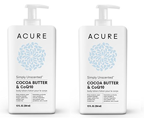 Acure Organics Ultra-Hydrating Fragrance Free Body Lotion With Fair Trade Organic Olive Oil, Cocoa Butter, Evening Primrose and CoQ10, 8 oz. (Pack of 2) - Evening Primrose Rose Body Lotion