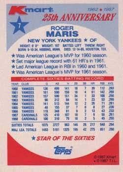 1987 Topps K-Mart #7 Roger Maris NM-MT