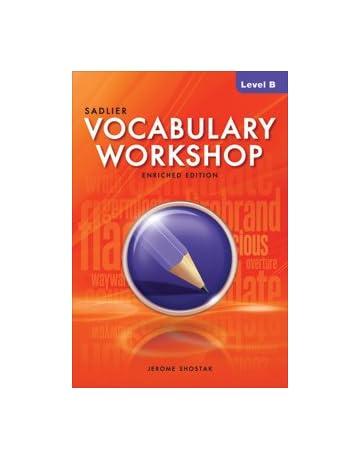 Vocabulary Workshop Level B Shostak 9780821580073 Amazon